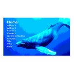 Humpback Whale Business Card Template
