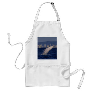 Humpback Whale Calf Breaching Surfers Paradise Adult Apron
