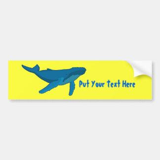 Humpback Whale Car Bumper Sticker