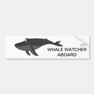 Humpback Whale Cartoon Bumper Sticker