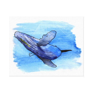 humpback whale cdrawing anvas canvas print