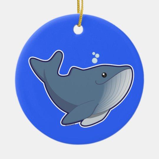 Humpback Whale Ceramic Ornament