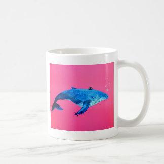humpback whale classic white coffee mug