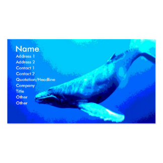 Humpback Whale Double-Sided Standard Business Cards (Pack Of 100)