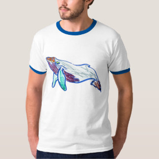 humpback whale drawing t shirt