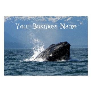 Humpback Whale Feeding Large Business Card