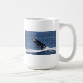 Humpback whale fluking mug