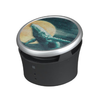 Humpback Whale Flying to The Moon Bumpster Speaker