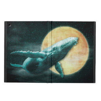 Humpback Whale Flying to The Moon iPad Air Cases