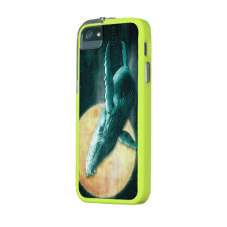 Humpback Whale Flying to The Moon iPhone 5/5S Case