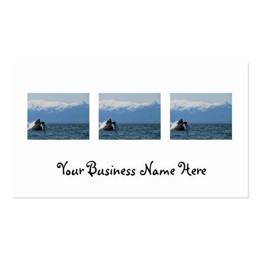 Humpback Whale Head Business Card Template