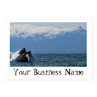 Humpback Whale Head Large Business Card