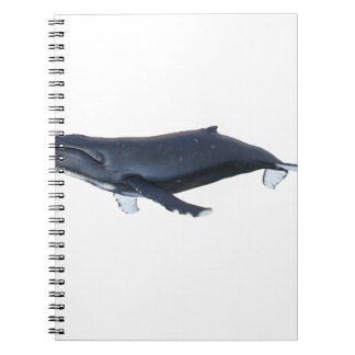 Humpback Whale in Profile Spiral Notebook