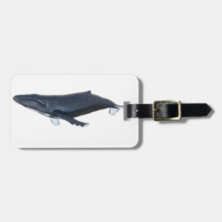 Humpback Whale in Profile Tag For Luggage