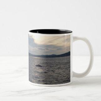 Humpback Whale in Sunset Two-Tone Coffee Mug