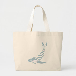 Humpback Whale in Swish Drawing Style Large Tote Bag