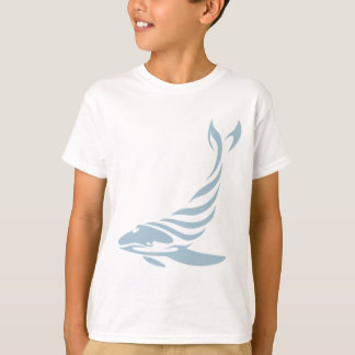 Humpback Whale in Swish Drawing Style T-Shirt