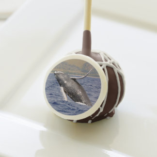 Humpback whale Jumping Cake Pops