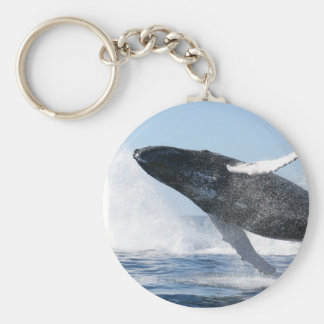 Humpback Whale Jumping High Keychain