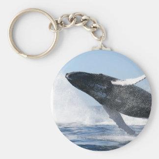 Humpback Whale Jumping High Keychain