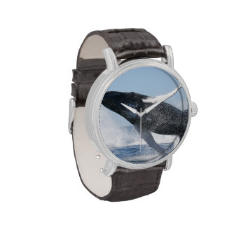 Humpback Whale Jumping High Wrist Watches