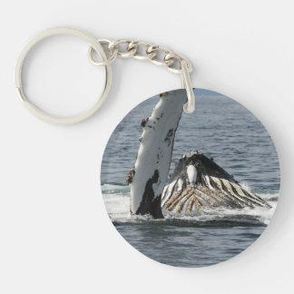 Humpback Whale Single-Sided Round Acrylic Keychain