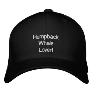 HUMPBACK WHALE LOVER Embroidered Cap Embroidered Baseball Cap