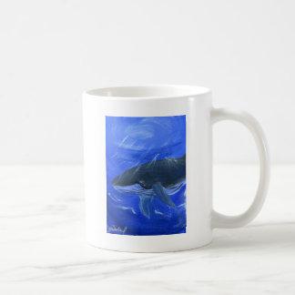 Humpback whale marine art Gunilla Wachtel Coffee Mug