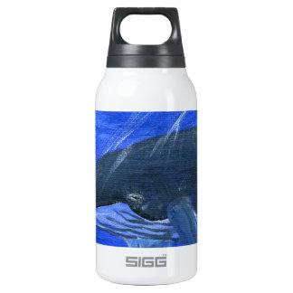 Humpback whale marine art Gunilla Wachtel Insulated Water Bottle