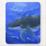 Humpback whale marine art Gunilla Wachtel Mouse Pad