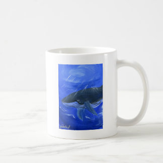 Humpback whale marine art Gunilla Wachtel Coffee Mugs