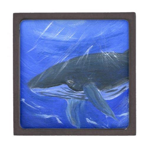 Humpback whale marine art Gunilla Wachtel Premium Gift Boxes
