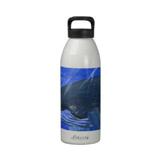 Humpback whale marine art Gunilla Wachtel Drinking Bottles