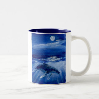 Humpback Whale Moonlight Traveller Two-Tone Coffee Mug