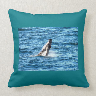HUMPBACK WHALE ON MIGRATION QUEENSLAND AUSTRALIA THROW PILLOW