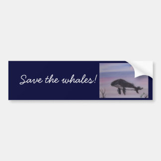 Humpback whale painting bumper sticker