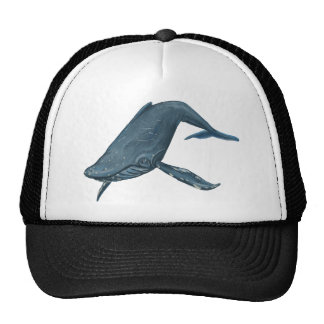 Humpback Whale Painting Hats