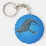 Humpback Whale Painting Keychain