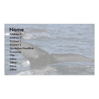 Humpback Whale Pair Double-Sided Standard Business Cards (Pack Of 100)