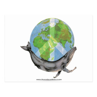 Humpback Whale Peace design. Postcard
