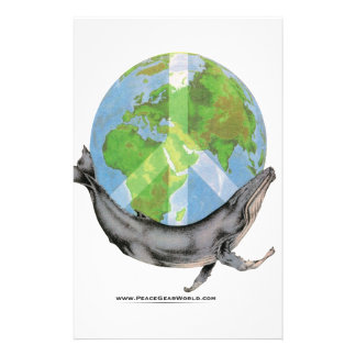 Humpback Whale Peace design. Stationery