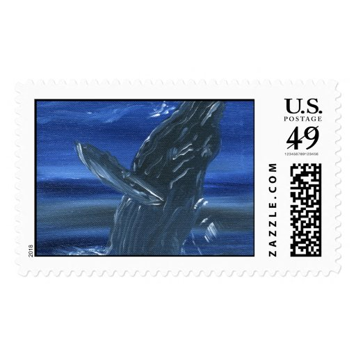 Humpback whale postage stamp