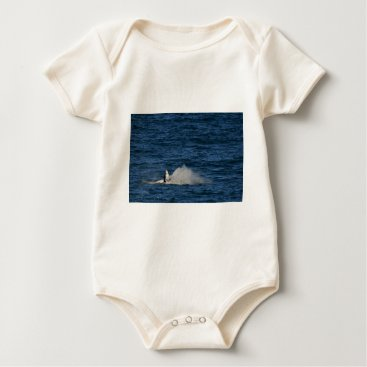 Beach Themed HUMPBACK WHALE QUEENSLAND AUSTRALIA BABY BODYSUIT