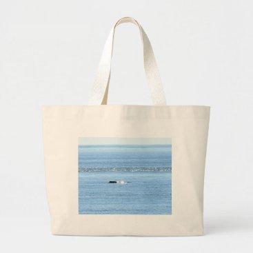 Beach Themed HUMPBACK WHALE QUEENSLAND AUSTRALIA LARGE TOTE BAG