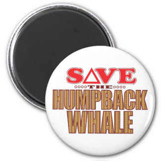 Humpback Whale Save 2 Inch Round Magnet