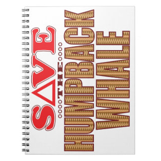 Humpback Whale Save Spiral Notebook