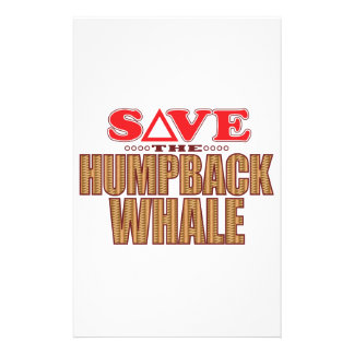 Humpback Whale Save Stationery