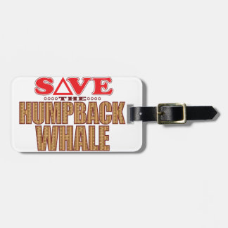 Humpback Whale Save Tag For Luggage