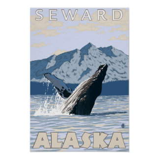 Humpback Whale - Seward, Alaska Poster