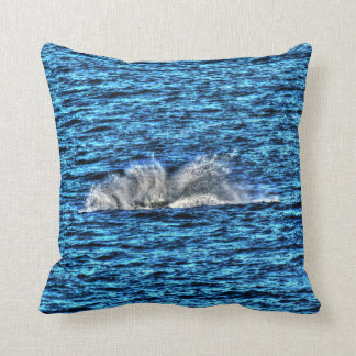 HUMPBACK WHALE SLAPPING WATER QUEENSLAND AUSTRALIA THROW PILLOW